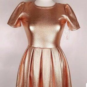 Lularoe Rose Gold Amelia Dress Size M